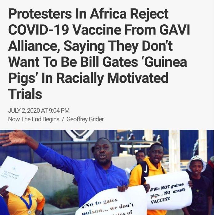Afrikka ei halua Covid-19- rokotetta