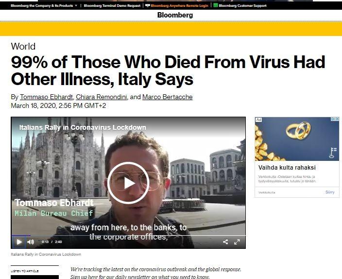 Italiassa koronavirus nousee taas (?)